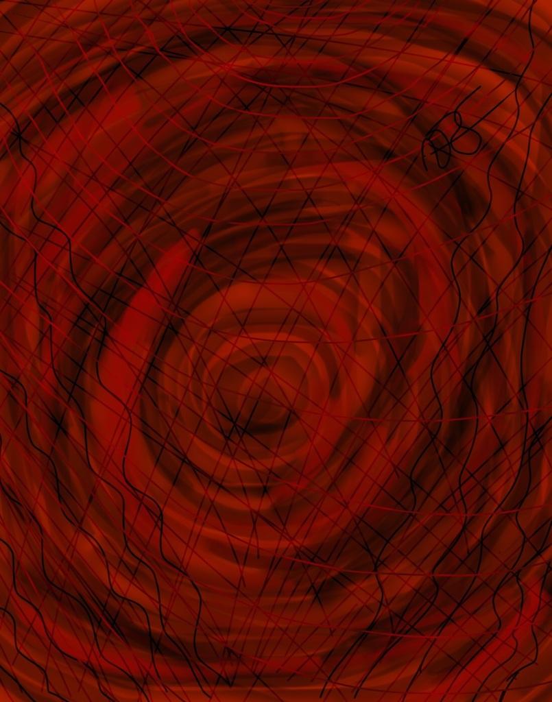 Vortex-Blooming Digital Art: 11x14: ARS