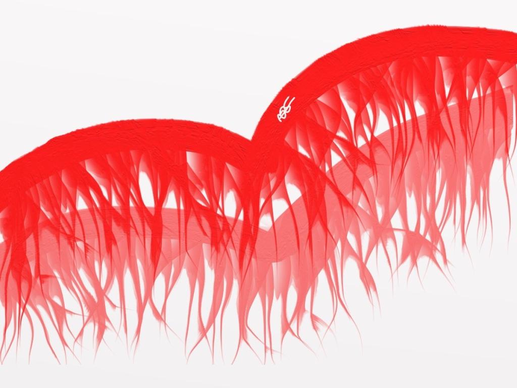 Blood Vines of the Heart 4 Digital Art: 12x9: ARS
