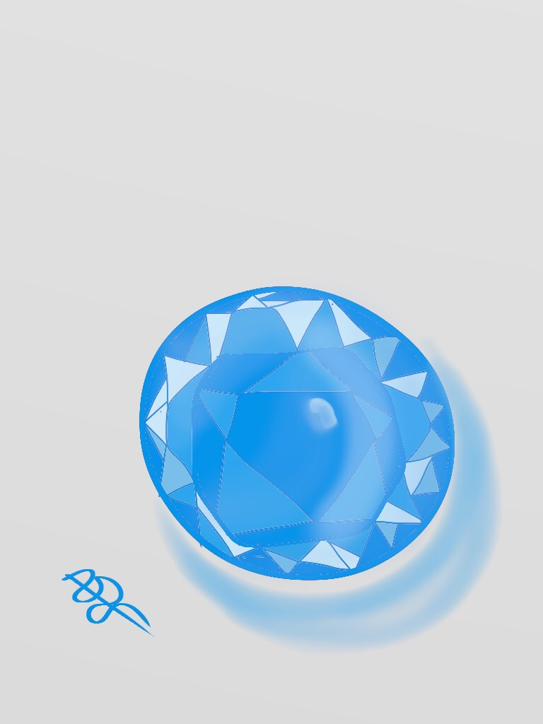 Gem 1 Digital Art: 8x10: ARS