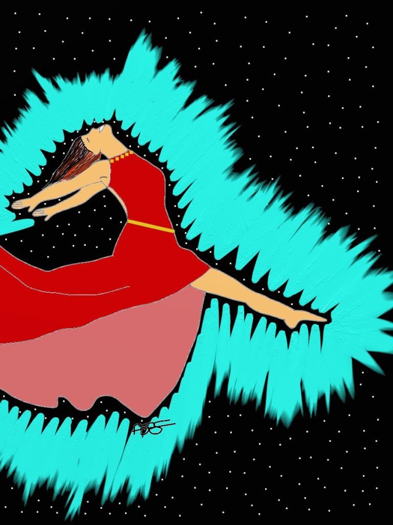 Leap for Joy!-Radiance 2 Digital Art: 9x12: ARS