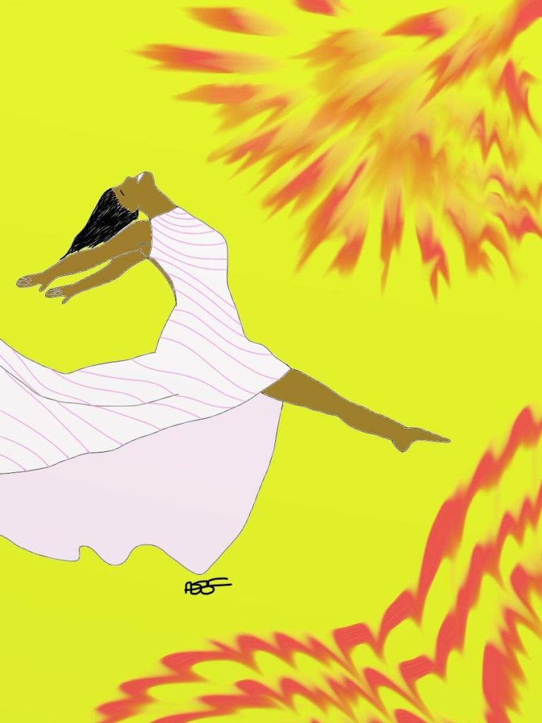 Leap for Joy!-Sunburst 1 Digital Art: 9x12: ARS
