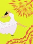 Leap for Joy!-Sunburst 2 Digital Art: 9x12: ARS