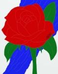 River Rose Digital Art: 11x14: ARS