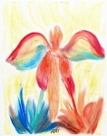 Angels Heard From High Oil Pastels: 11x14: ARS