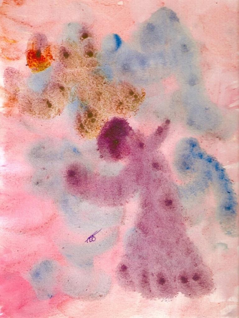 Angels Praise Watercolor: 9x12: ARS