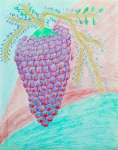 Fruit of the Vine Crayon: 11 x 14: ARS