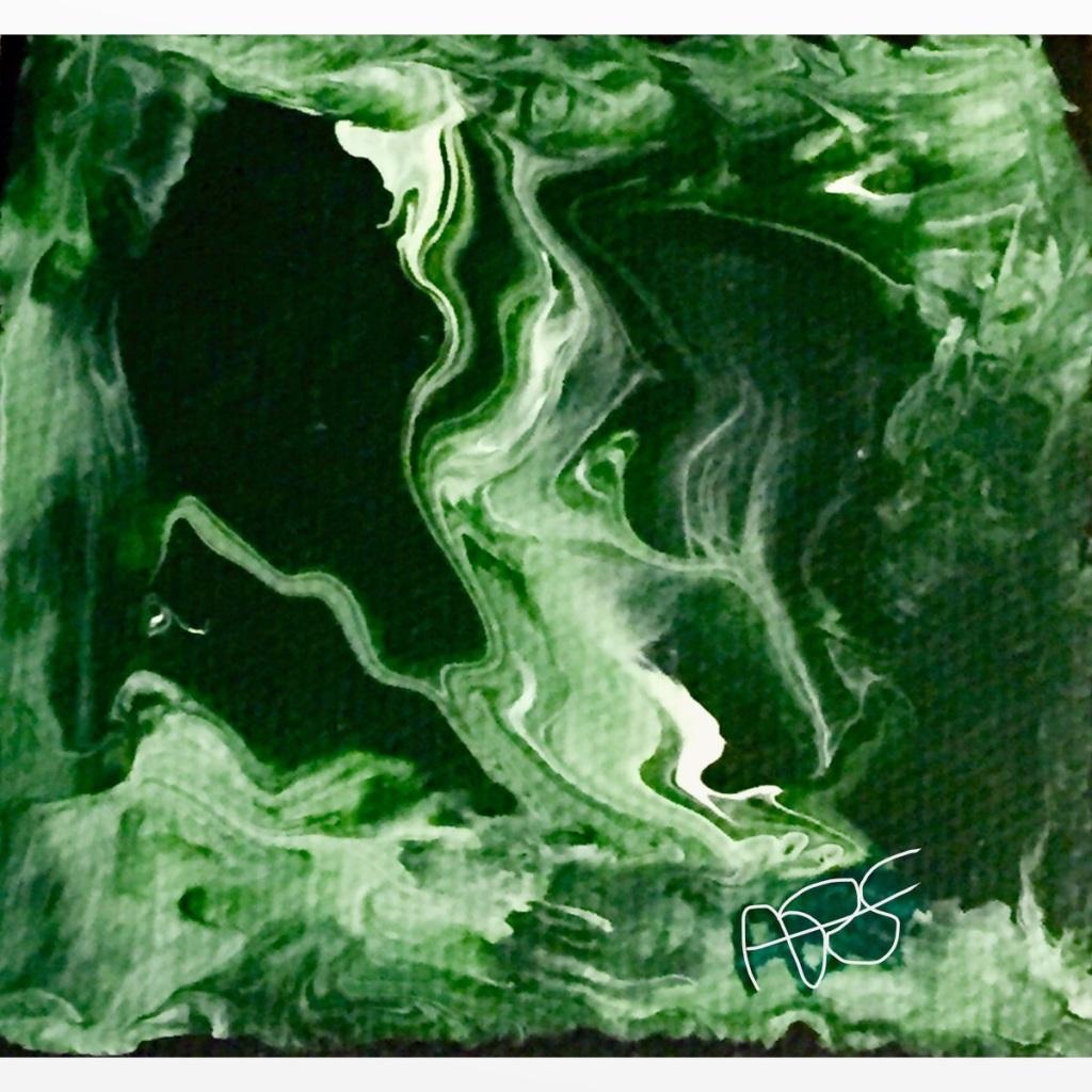 Forrest Vapor Acrylic Art: 12x12: ARS