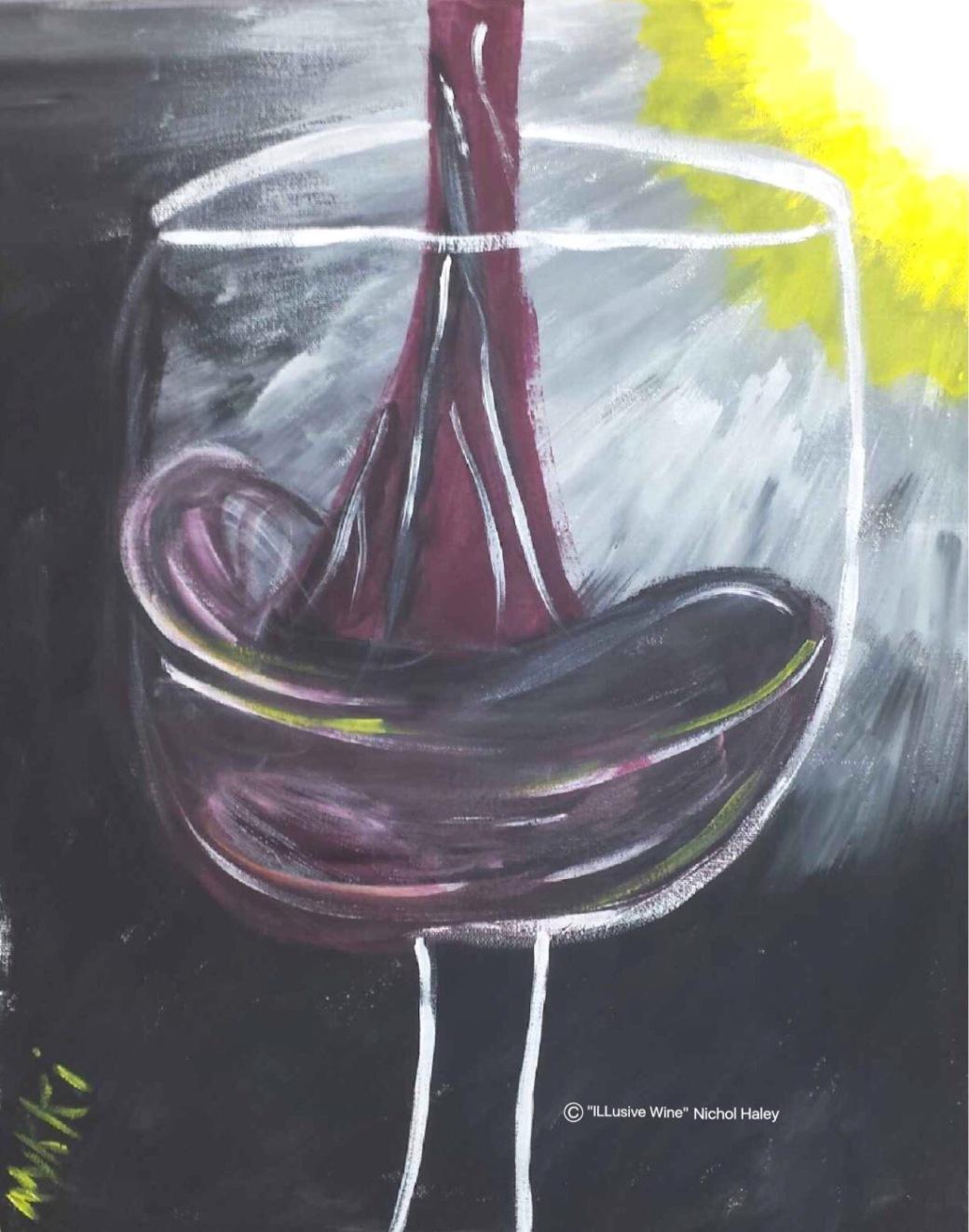 ILLusive Wine Acrylic: 11x14 Nichol Haley