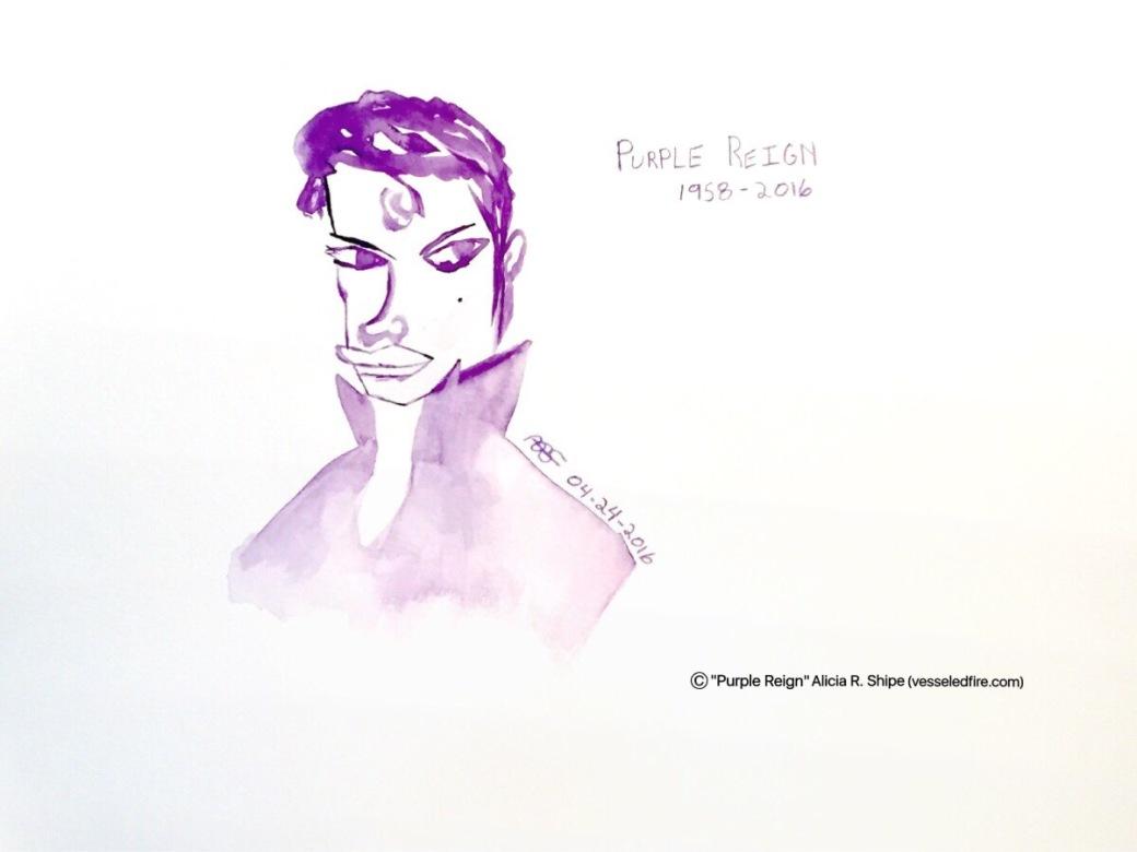 Purple Reign Watercolor: 12x9 ARS