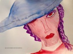 The Girl Is So Dangerous Watercolor: 12x9 ARS