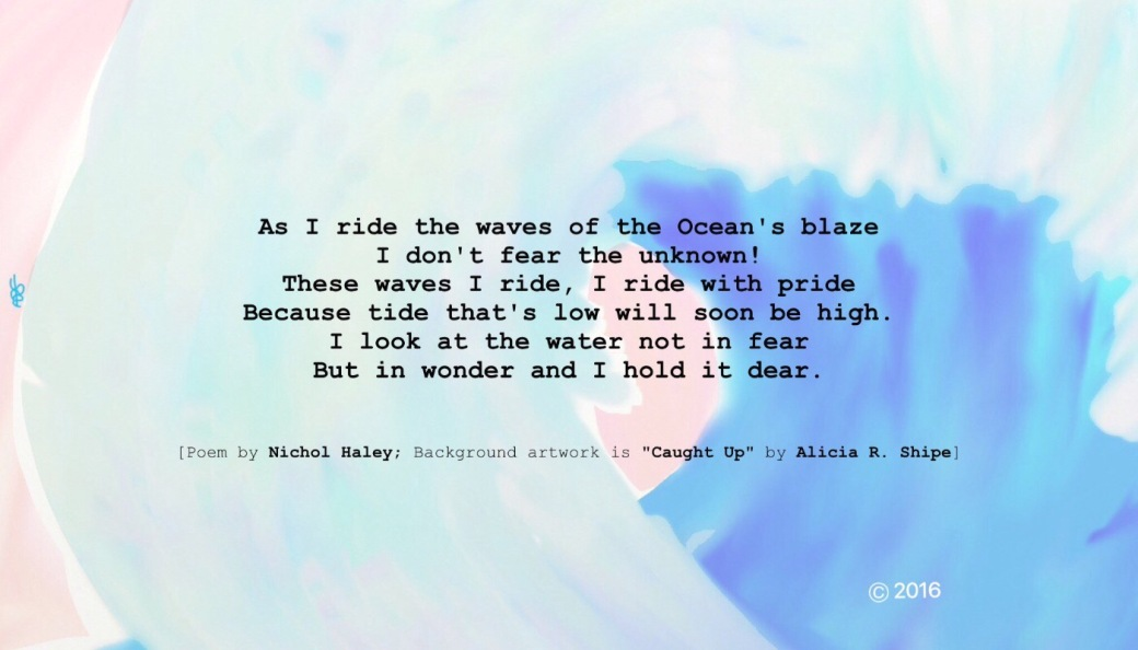 """The Wave"" Poem: Nichol Haley Artwork (""Caught Up""): Alicia R. Shipe"
