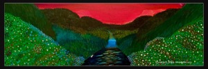 Through The Valley Acrylic: 36x12: ARS